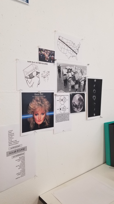 visual research wall